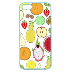 Mango Fruit Pieces Watermelon Dragon Passion Fruit Apple Strawberry Pineapple Melon Apple Seamless Iphone 5 Case (color) by Mariart