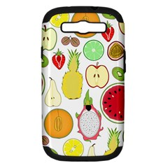 Mango Fruit Pieces Watermelon Dragon Passion Fruit Apple Strawberry Pineapple Melon Samsung Galaxy S Iii Hardshell Case (pc+silicone) by Mariart
