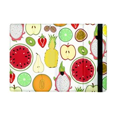 Mango Fruit Pieces Watermelon Dragon Passion Fruit Apple Strawberry Pineapple Melon Apple Ipad Mini Flip Case by Mariart