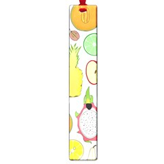 Mango Fruit Pieces Watermelon Dragon Passion Fruit Apple Strawberry Pineapple Melon Large Book Marks by Mariart