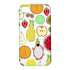 Mango Fruit Pieces Watermelon Dragon Passion Fruit Apple Strawberry Pineapple Melon Apple Iphone 4/4s Hardshell Case With Stand by Mariart