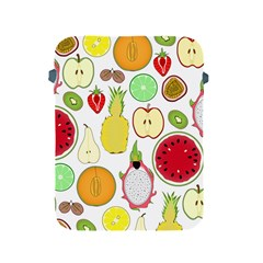 Mango Fruit Pieces Watermelon Dragon Passion Fruit Apple Strawberry Pineapple Melon Apple Ipad 2/3/4 Protective Soft Cases by Mariart
