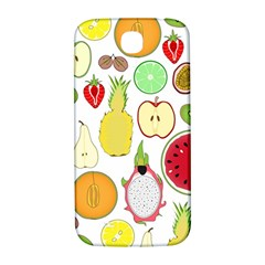 Mango Fruit Pieces Watermelon Dragon Passion Fruit Apple Strawberry Pineapple Melon Samsung Galaxy S4 I9500/i9505  Hardshell Back Case by Mariart