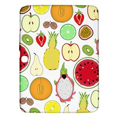 Mango Fruit Pieces Watermelon Dragon Passion Fruit Apple Strawberry Pineapple Melon Samsung Galaxy Tab 3 (10 1 ) P5200 Hardshell Case  by Mariart