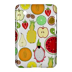 Mango Fruit Pieces Watermelon Dragon Passion Fruit Apple Strawberry Pineapple Melon Samsung Galaxy Tab 2 (7 ) P3100 Hardshell Case  by Mariart