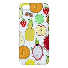 Mango Fruit Pieces Watermelon Dragon Passion Fruit Apple Strawberry Pineapple Melon Iphone 5s/ Se Premium Hardshell Case by Mariart