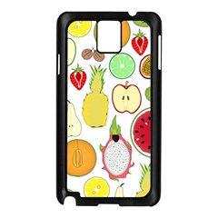Mango Fruit Pieces Watermelon Dragon Passion Fruit Apple Strawberry Pineapple Melon Samsung Galaxy Note 3 N9005 Case (black) by Mariart