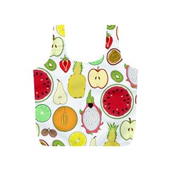 Mango Fruit Pieces Watermelon Dragon Passion Fruit Apple Strawberry Pineapple Melon Full Print Recycle Bags (s)  by Mariart