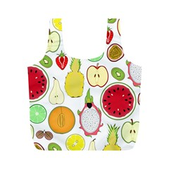Mango Fruit Pieces Watermelon Dragon Passion Fruit Apple Strawberry Pineapple Melon Full Print Recycle Bags (m)  by Mariart
