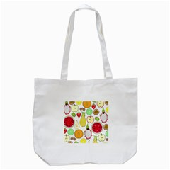 Mango Fruit Pieces Watermelon Dragon Passion Fruit Apple Strawberry Pineapple Melon Tote Bag (white) by Mariart