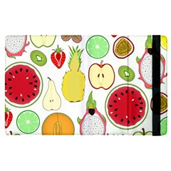 Mango Fruit Pieces Watermelon Dragon Passion Fruit Apple Strawberry Pineapple Melon Apple Ipad Pro 12 9   Flip Case by Mariart