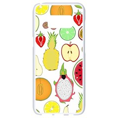Mango Fruit Pieces Watermelon Dragon Passion Fruit Apple Strawberry Pineapple Melon Samsung Galaxy S8 White Seamless Case by Mariart