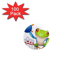 Tree Frog Bowler 1  Mini Magnets (100 Pack)  by crcustomgifts