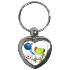 Tree Frog Bowler Key Chains (heart)  by crcustomgifts