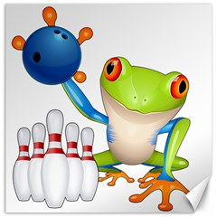 Tree Frog Bowler Canvas 16  X 16   by crcustomgifts