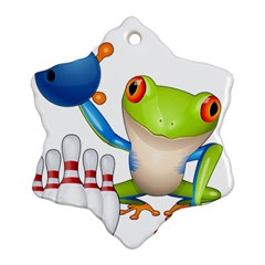 Tree Frog Bowler Ornament (snowflake) by crcustomgifts