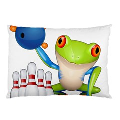 Tree Frog Bowler Pillow Case (two Sides) by crcustomgifts
