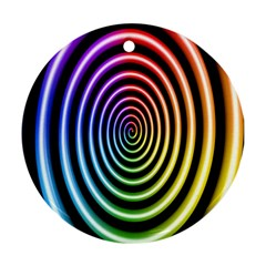 Hypnotic Circle Rainbow Ornament (round) by Mariart