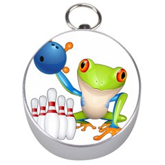 Tree Frog Bowler Silver Compasses by crcustomgifts