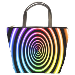 Hypnotic Circle Rainbow Bucket Bags by Mariart