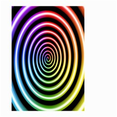 Hypnotic Circle Rainbow Small Garden Flag (two Sides) by Mariart
