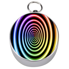 Hypnotic Circle Rainbow Silver Compasses by Mariart