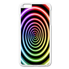 Hypnotic Circle Rainbow Apple Iphone 6 Plus/6s Plus Enamel White Case by Mariart