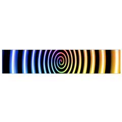 Hypnotic Circle Rainbow Flano Scarf (small) by Mariart