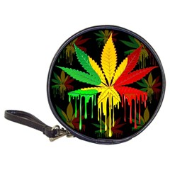 Marijuana Cannabis Rainbow Love Green Yellow Red Black Classic 20 Cd Wallets by Mariart