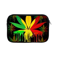 Marijuana Cannabis Rainbow Love Green Yellow Red Black Apple Ipad Mini Zipper Cases by Mariart