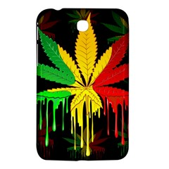 Marijuana Cannabis Rainbow Love Green Yellow Red Black Samsung Galaxy Tab 3 (7 ) P3200 Hardshell Case  by Mariart