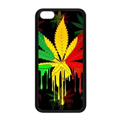 Marijuana Cannabis Rainbow Love Green Yellow Red Black Apple Iphone 5c Seamless Case (black) by Mariart