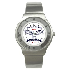 New U S  Citizen Eagle 2017  Stainless Steel Watch by crcustomgifts