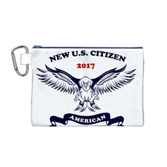 New U S  Citizen Eagle 2017  Canvas Cosmetic Bag (m) by crcustomgifts