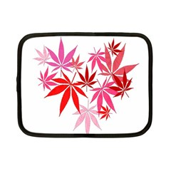 Marijuana Cannabis Rainbow Pink Love Heart Netbook Case (small)  by Mariart