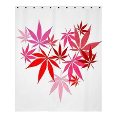 Marijuana Cannabis Rainbow Pink Love Heart Shower Curtain 60  X 72  (medium)  by Mariart