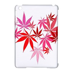 Marijuana Cannabis Rainbow Pink Love Heart Apple Ipad Mini Hardshell Case (compatible With Smart Cover) by Mariart