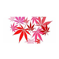Marijuana Cannabis Rainbow Pink Love Heart Satin Wrap by Mariart