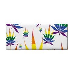 Marijuana Cannabis Rainbow Love Green Yellow Red White Leaf Cosmetic Storage Cases by Mariart