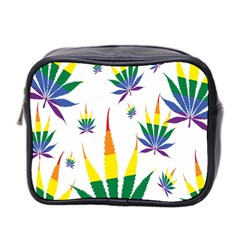 Marijuana Cannabis Rainbow Love Green Yellow Red White Leaf Mini Toiletries Bag 2 Side by Mariart