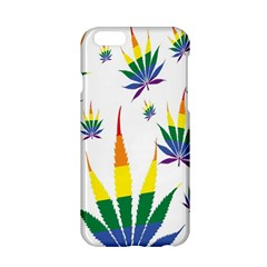 Marijuana Cannabis Rainbow Love Green Yellow Red White Leaf Apple Iphone 6/6s Hardshell Case by Mariart