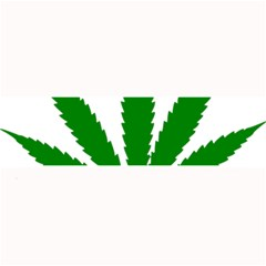 Marijuana Weed Drugs Neon Cannabis Green Leaf Sign Large Bar Mats by Mariart