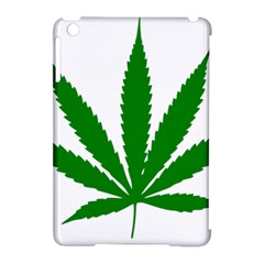 Marijuana Weed Drugs Neon Cannabis Green Leaf Sign Apple Ipad Mini Hardshell Case (compatible With Smart Cover) by Mariart