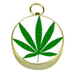 Marijuana Weed Drugs Neon Cannabis Green Leaf Sign Gold Compasses by Mariart