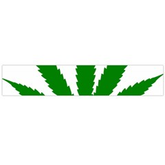 Marijuana Weed Drugs Neon Cannabis Green Leaf Sign Flano Scarf (large) by Mariart