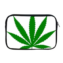 Marijuana Weed Drugs Neon Cannabis Green Leaf Sign Apple Macbook Pro 17  Zipper Case by Mariart