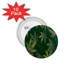 Marijuana Cannabis Rainbow Love Green Yellow Leaf 1 75  Buttons (10 Pack) by Mariart