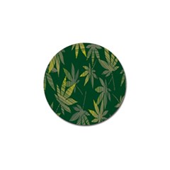 Marijuana Cannabis Rainbow Love Green Yellow Leaf Golf Ball Marker by Mariart