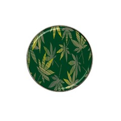 Marijuana Cannabis Rainbow Love Green Yellow Leaf Hat Clip Ball Marker (10 Pack)