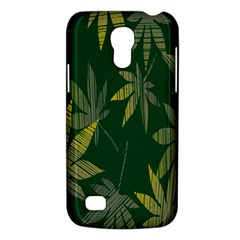 Marijuana Cannabis Rainbow Love Green Yellow Leaf Galaxy S4 Mini by Mariart